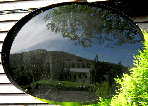 Tintern Abbey seen through a Claude Mirror