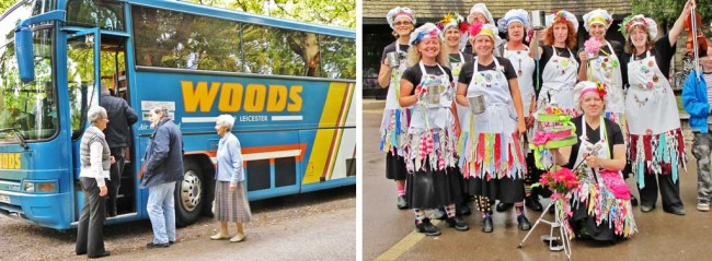 A coach tour party and some unusual visitors to the area.