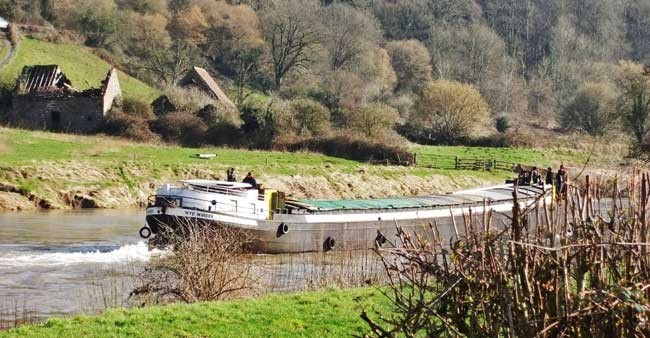 The Wye Invader, the largest vessel to navigate the Wye to Hereford.