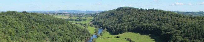 The view from Symonds Yat Rock in summer.