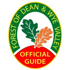 The badge of the Forest of Dean and Wye Valley Tour Guides.