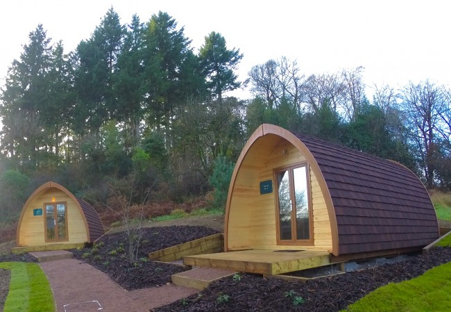 A photo of 2 new Glamping Pods at Wtitemead, Parkend.