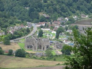 Tintern Abbey in July 2016, from Devil's Pulpit