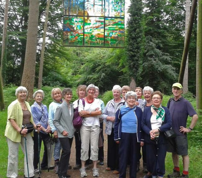A photo of Members of Peterstowe Women's Institute on a woodland walk