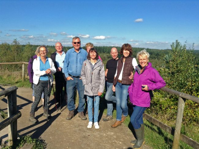 Nine walkers from Whitemead at the New Fancy Viewpoint.