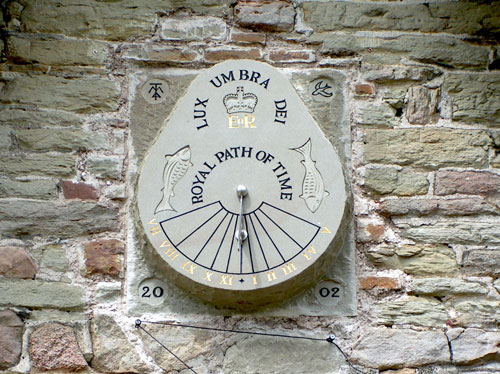 A photo of the Sundial at Ruardean Church