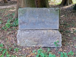 A memorial to Madge a favourite mare.