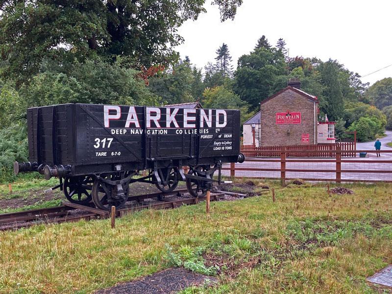 Parkend railway truck